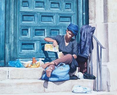 «El desayuno en la puerta de la Iglesia»
