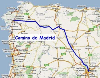 El camino madrileño a Santiago
