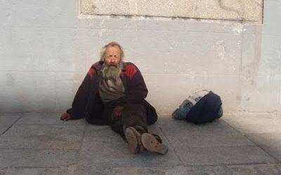 Indigentes en las calles de Madrid.