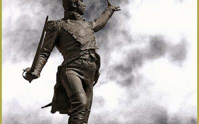 La estatua del teniente Ruiz.