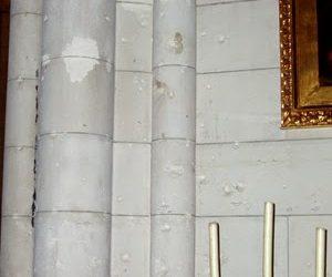 Marcas de guerra en la catedral de La Almudena