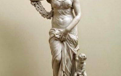 La estatua de Venus del parque del Capricho