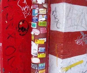 La suciedad vertical y el vandalismo en Madrid.
