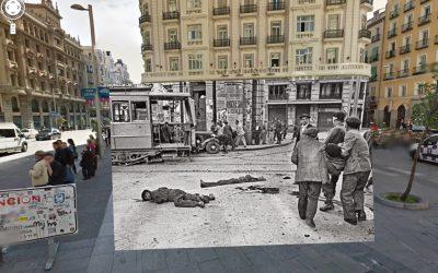 Fotomontajes de Sebastian Maharg sobre la Guerra Civil