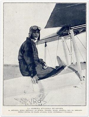 La primera aviadora española