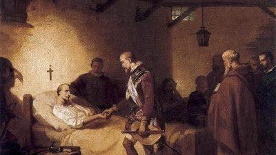 El entierro de Cervantes, hace 400 años
