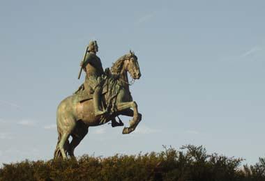 La estatua de Felipe IV a caballo