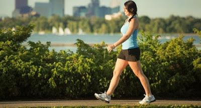 Caminar para estar en forma.