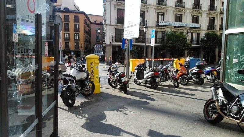 Dificultades para los peatones en Madrid